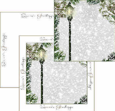 Christmas Snowy Night Backing Paper Download