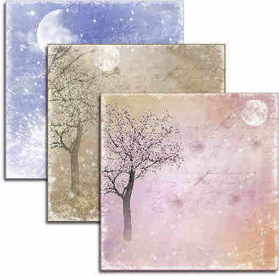 Under the Moon, romantic scene papers