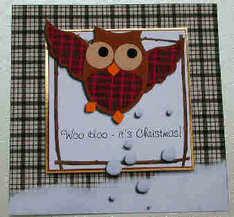 owl xmas topper