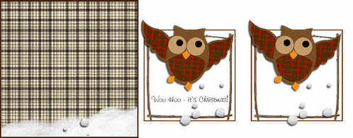 Xmas owl topper download