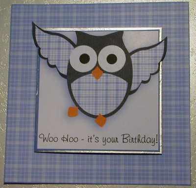Owl Birthday topper kit, blue