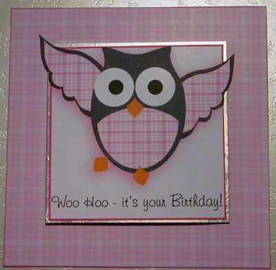 Owl Birthday topper kit, pink
