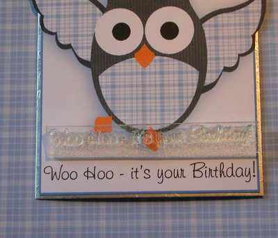 Woo Hoo it's your Birthday, owl text stamp