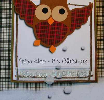 Woo Hoo it's Christmas, owl text stamp