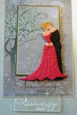 Anniversary Waltz, script stamp