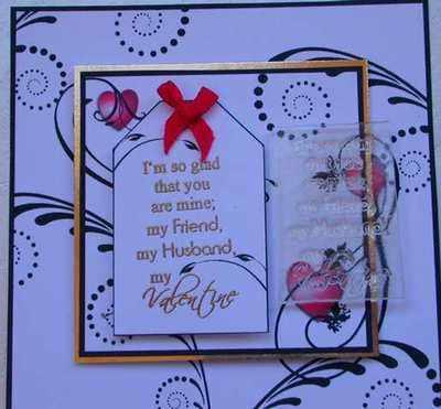 My Valentine, husband verse stamp
