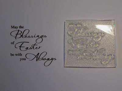 Blessings of Easter, script verse stamp
