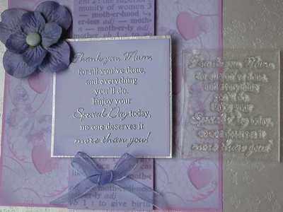 Thank you Mum, verse stamp