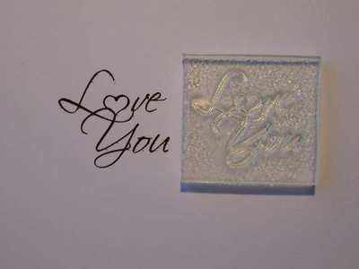 Little Love You stamp with Heart