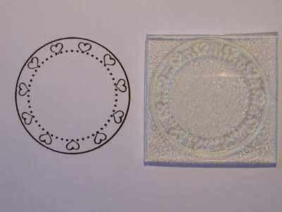 Heart frame circle stamp