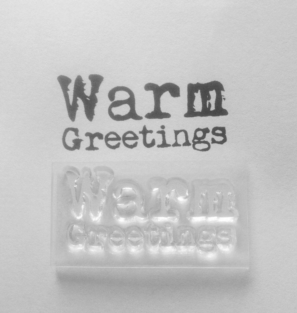 Warm Greetings typewriter stamp