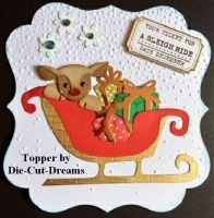 Sleigh Ride Ticket stamp to fit Tim Holtz die