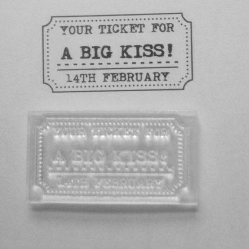 Big Kiss ticket stamp