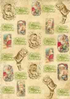 vintage santa paper