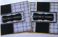 Digi Birthday Card Topper for Men, Plaid