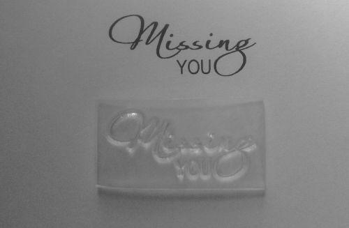 Missing you, sentiment stamp