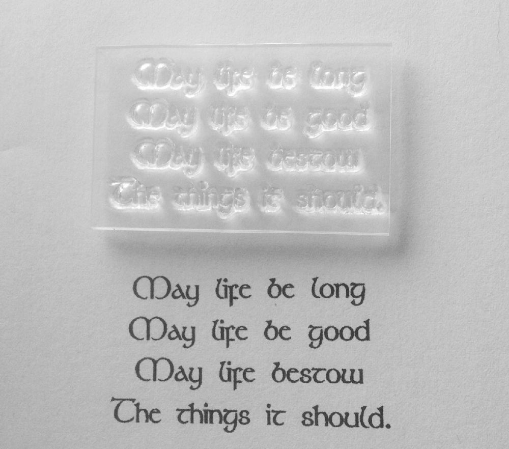 Pagan verse stamp, May Life be Long