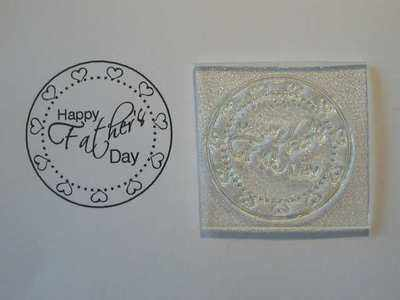 Heart frame Father's Day circle stamp