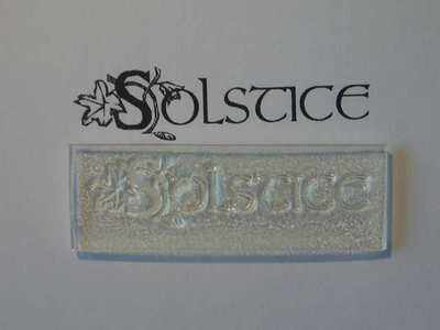 Solstice, decorative text stamp