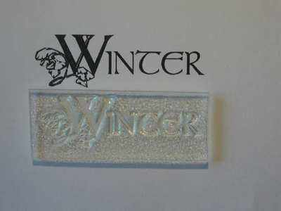Winter, decorative text stamp