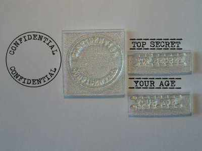 Confidential circle stamp set