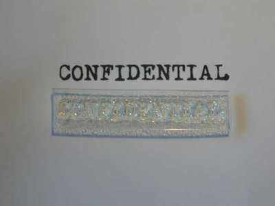 Confidential, stamp