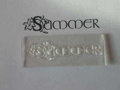 Summer, decorative text stamp