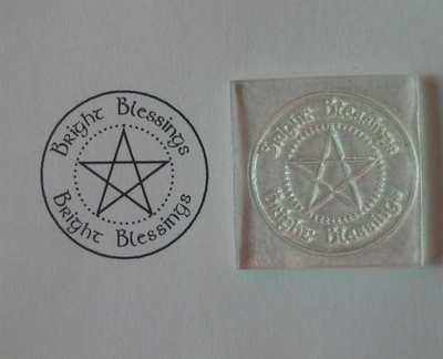 Bright Blessings Pentacle stamp