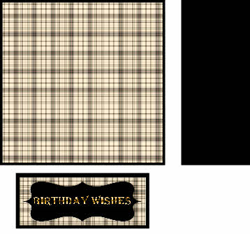 Plaid Birthday Wishes digi topper