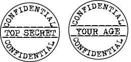 confidential top secret stamp set