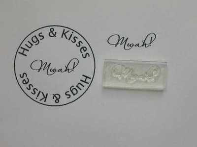 Mwah! a little kiss stamp