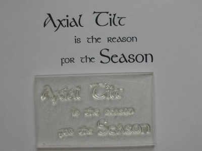 Axial Tilt, atheist Christmas stamp