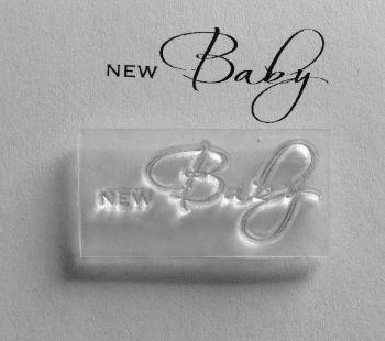 New Baby script stamp
