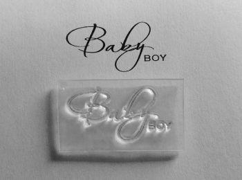 Baby Boy script stamp