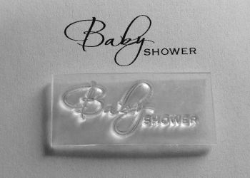 Baby Shower script stamp