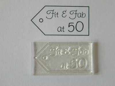 Tag stamp, Fit & Fab at 50