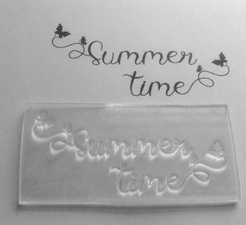 Summer time butterflies stamp
