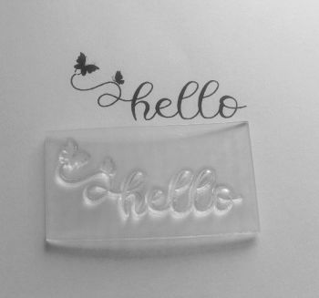 Hello butterflies stamp