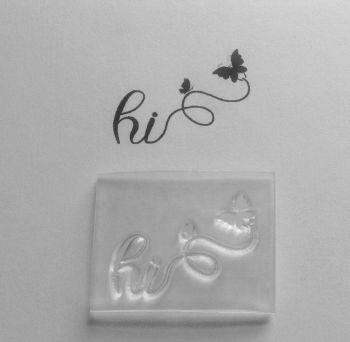 Hi butterflies stamp