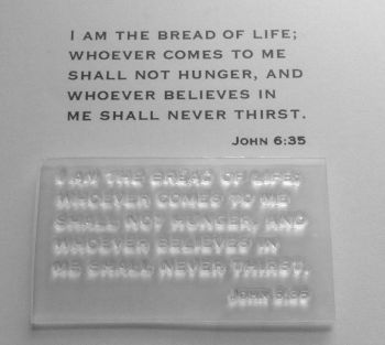 I am the bread of life John 6:35 stamp