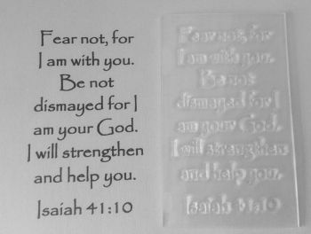 Fear not, for I am with you Isaiah 41:10 stamp