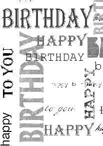 Birthday text overlay