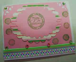 Carol pink card