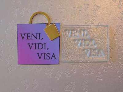 Veni, Vidi, Visa, clear stamp