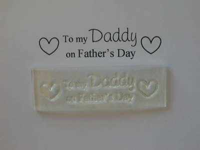 To my Daddy on Father's Day