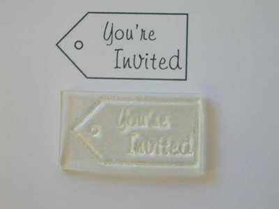 Tag stamp, You're Invited