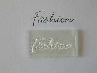 Fashion, clear script stamp