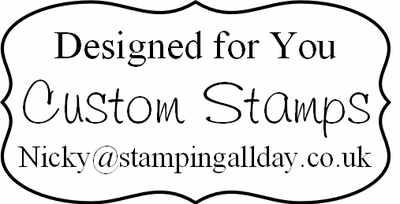 personalised bracket frame stamp