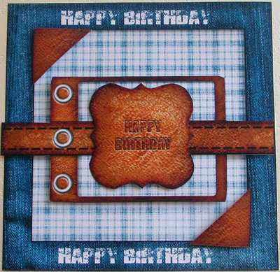 Digi Birthday Topper for Men, Denim & Leather