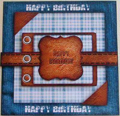 Digi Birthday Topper for Men, Denim & Leather